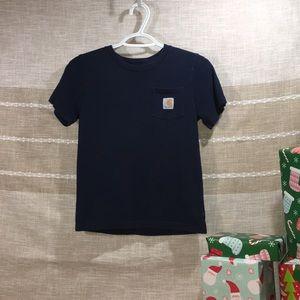 4/$20🎄 Boys, Medium size 8 Carhartt Navy Blue T